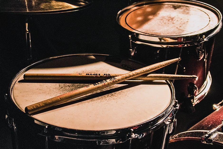 drumsticks on drums