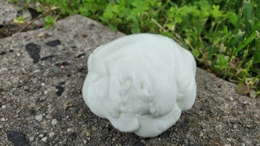 A ball of homemade Silly Putty