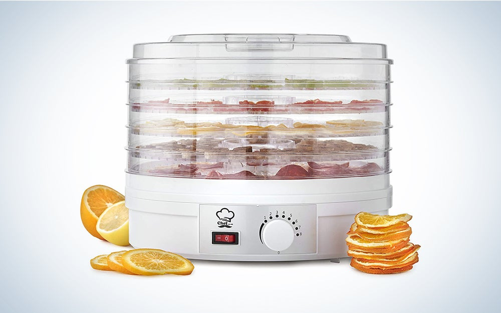 MisterChef® Food Dehydrator, 250W Large 5 Trays – Perfect for Healthy & Natural Snacks, Dried Fruit - Long 1m Power Cord + Free Color Recipe Book + Free 2 Year Warranty + Nice Color Gift Box