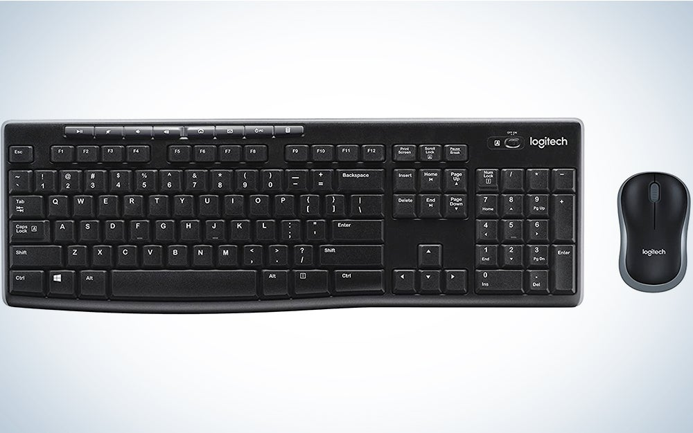 Logitech MK270 Wireless Keyboard and Mouse Combo - Keyboard and Mouse Included, Long Battery Life