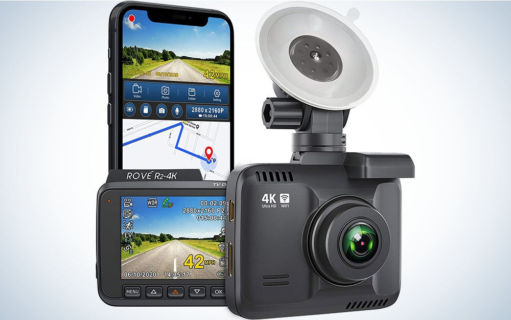 """Rove R2- 4K Dash Cam Built in WiFi GPS Car Dashboard Camera Recorder with UHD 2160P, 2.4"""" LCD, 150° Wide Angle, WDR, Night Vision"""