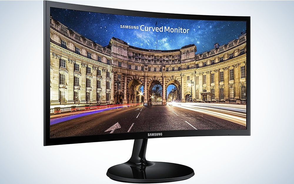 Samsung CF390 Series 27 inch FHD 1920x1080 Curved Desktop Monitor for Business, HDMI, VGA, VESA mountable