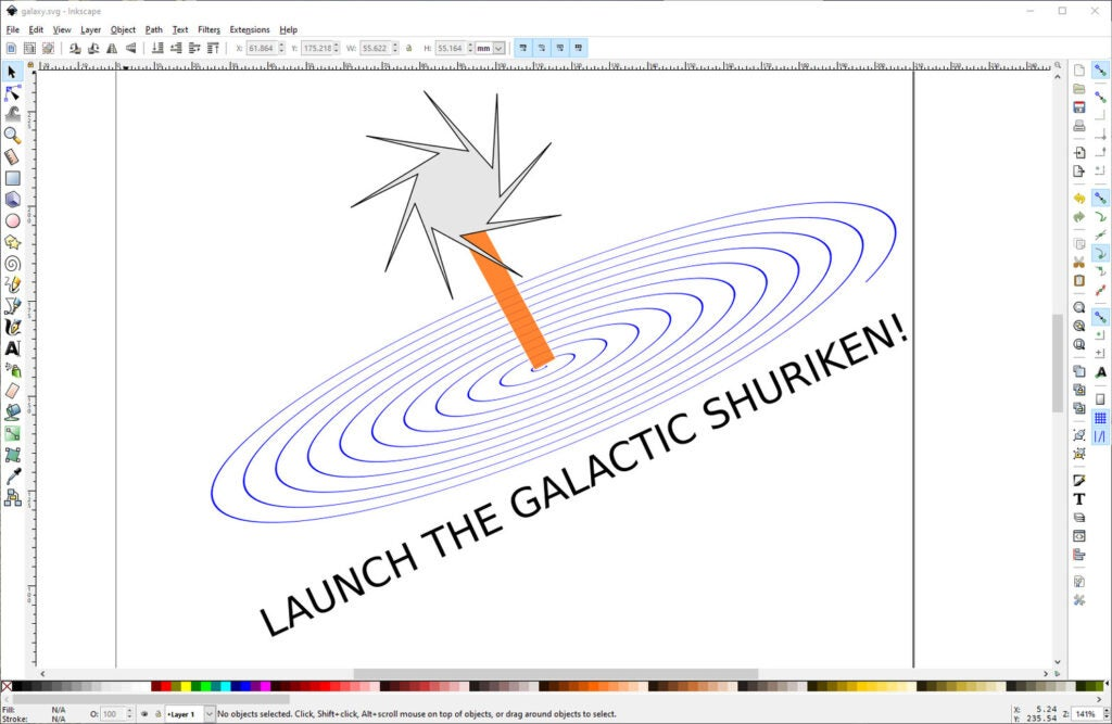 a screenshot of a drawing in Inkscape
