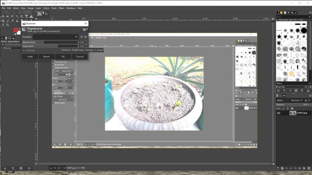 a screenshot of the GIMP image-editing program