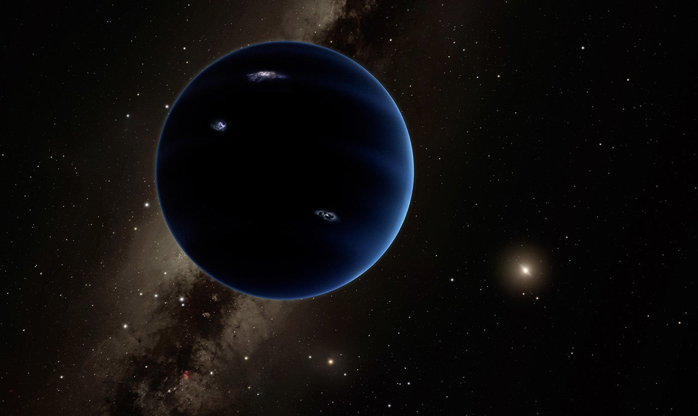 An artist's interpretation of what a ninth planet could look like.