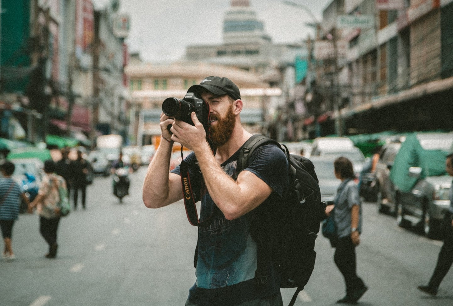 a photographer taking photos in Thailand