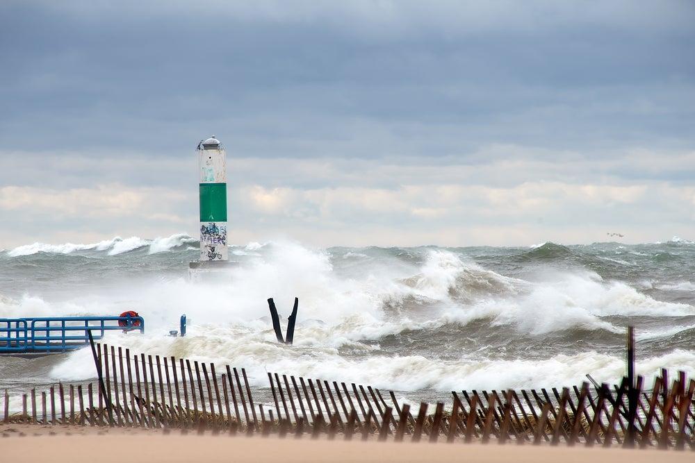 A storm on Lake Michigan