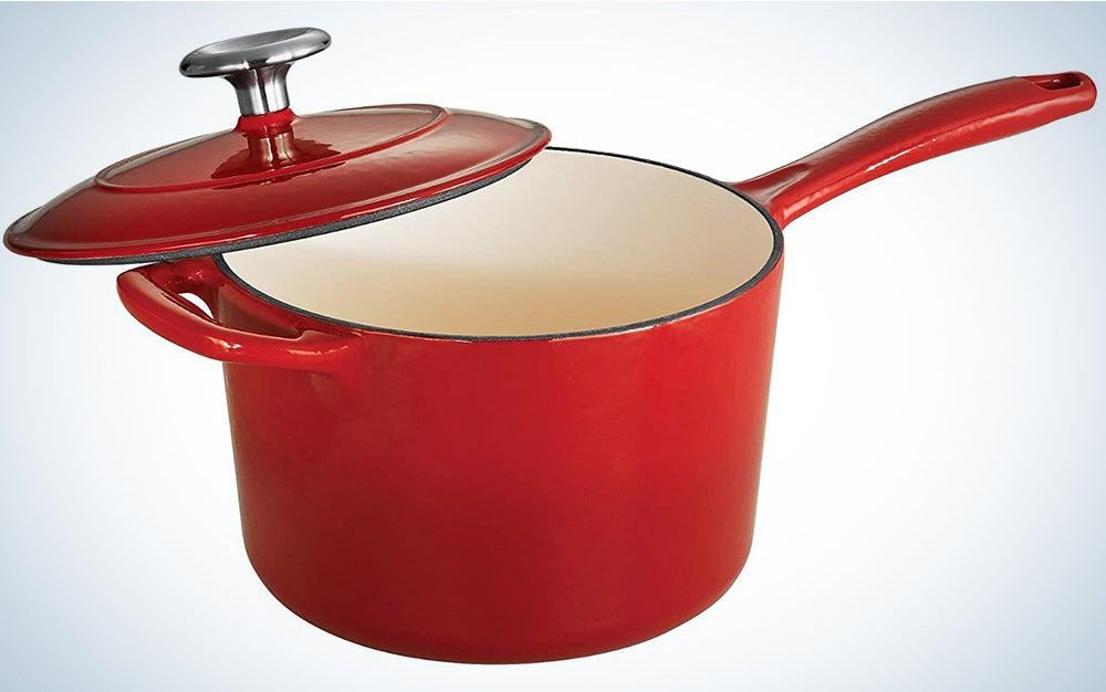Tramontina Enameled Cast Iron Covered Sauce Pan, 2.5-Quart