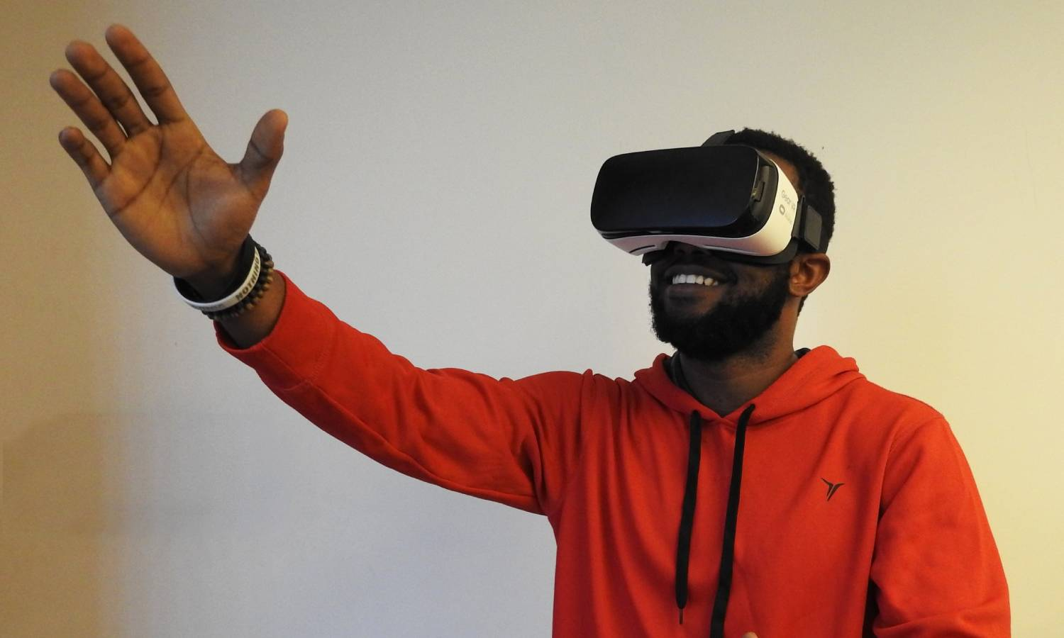 Person with VR visor