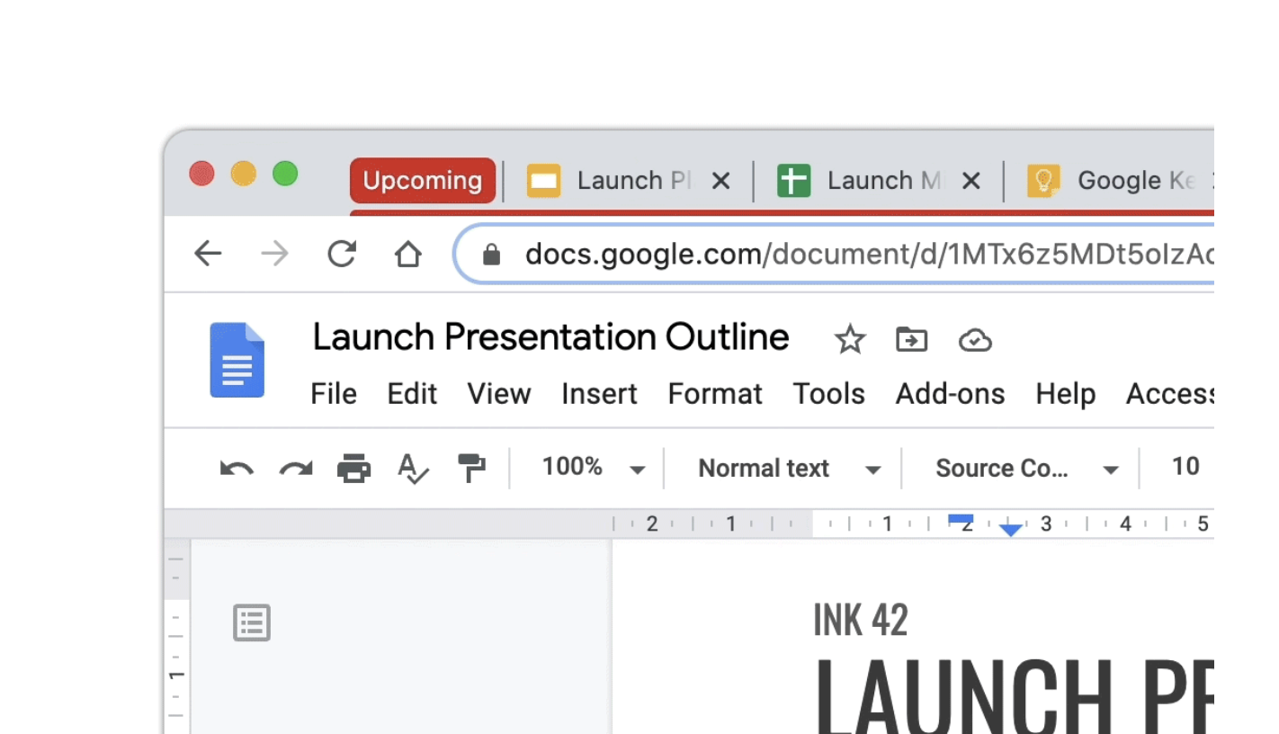 Google Chrome grouped tabs
