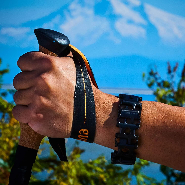 leatherman multi-tool on wrist