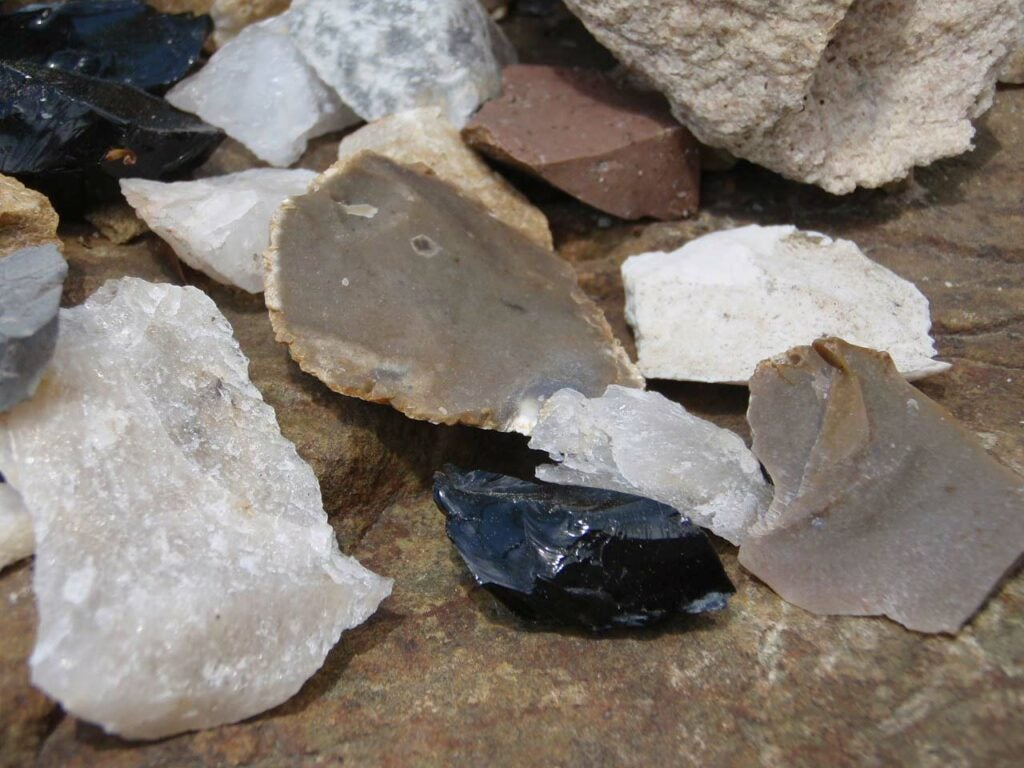 Small blades made from stones.