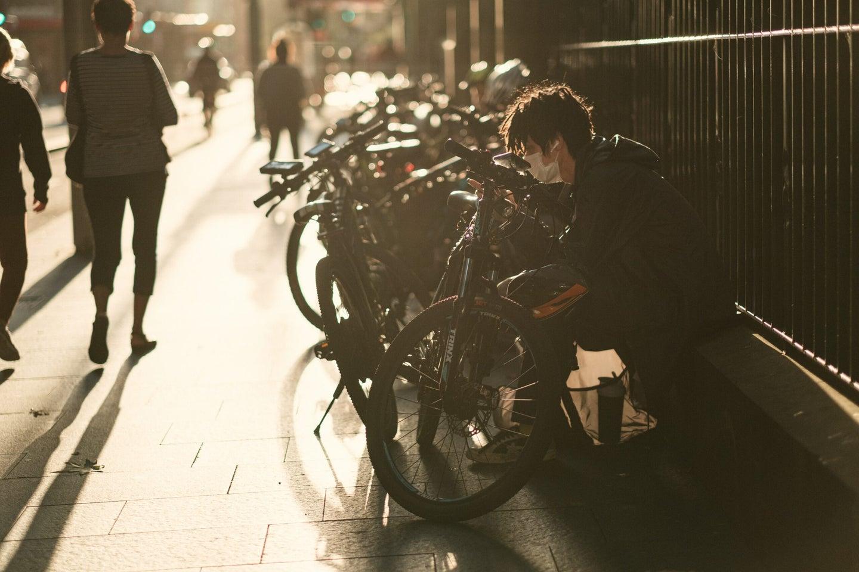 a person social distancing
