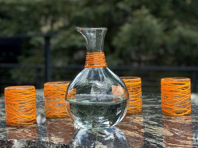 Handblown Glass Carafe