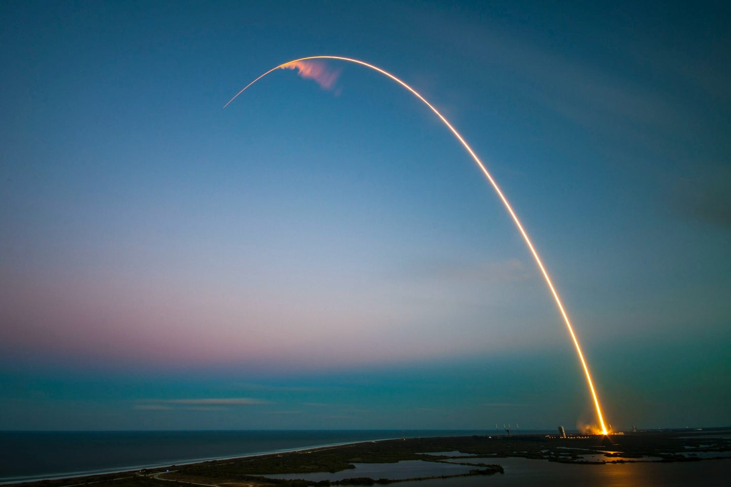 A SpaceX rocket seen launching from Cape Canaveral in Florida.