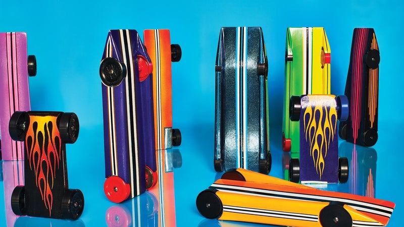 Meet the dads who can't quit pinewood derby racing—even after their kids are over it