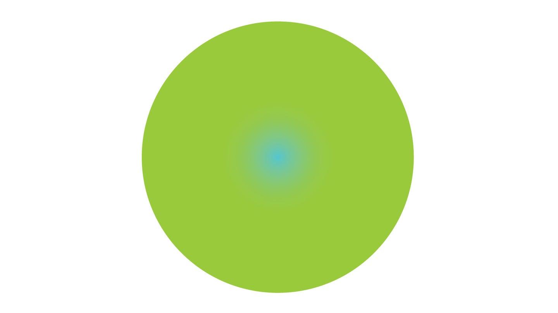 blue dot in green circle