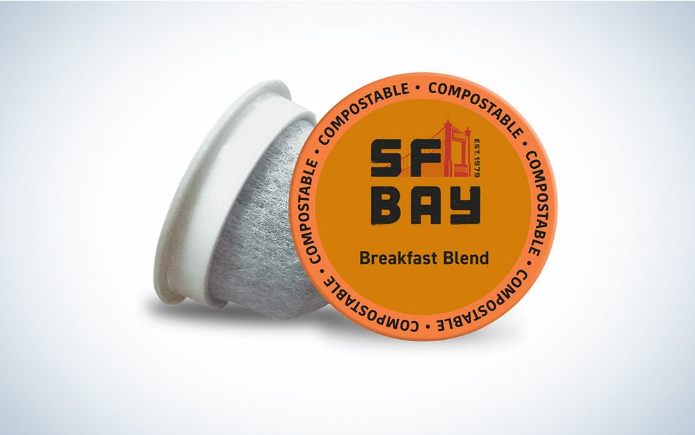 SF Bay Coffee Breakfast Blend 80 Ct Medium Roast Compostable Coffee Pods, K Cup Compatible including Keurig 2.0