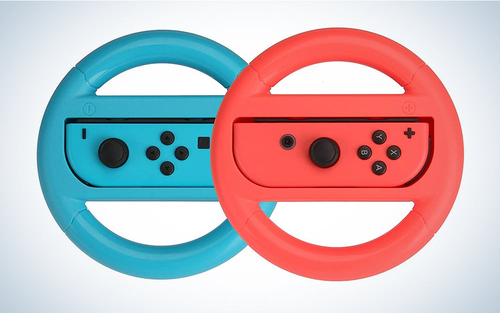 HORI Nintendo Switch Mario Kart 8 Deluxe Wheel (Luigi Version) Officially Licensed By Nintendo