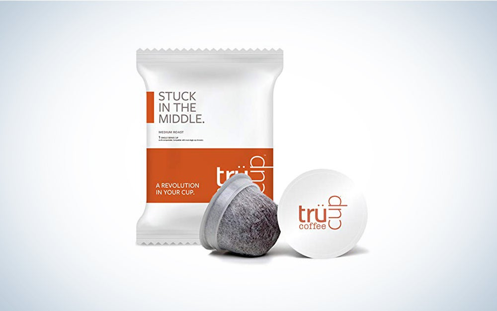 trücup Low Acid Coffee- Dark as Night French Roast- Biodegradable 48 Count Coffee Pods- Smooth, Dark Roast