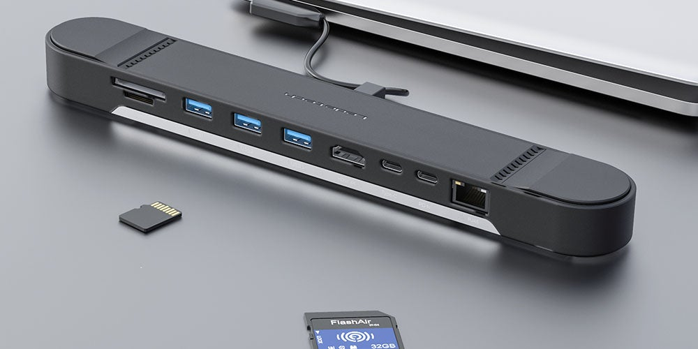 Laptop 9-in-1 Docking Station Stand