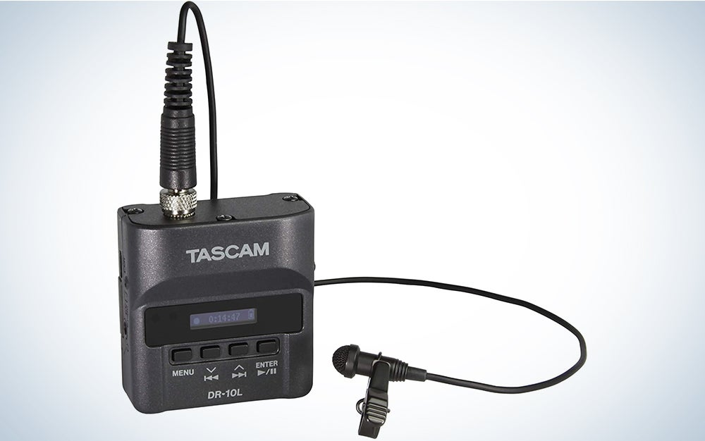 Tascam DR-10L Portable Digital Audio Recorder and Lavalier Microphone