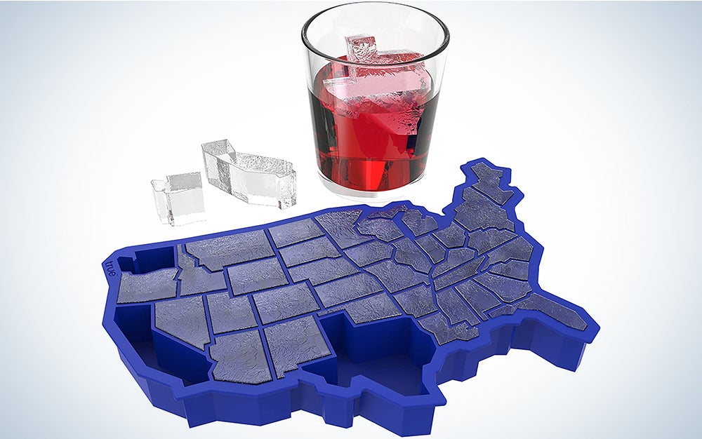 TrueZoo U Country-Shaped Silicone Mold and Ice Cube Tray