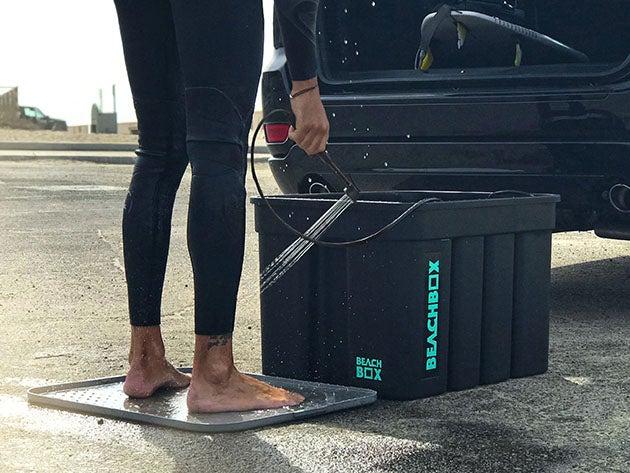 The BeachBox: Portable Shower & Storage