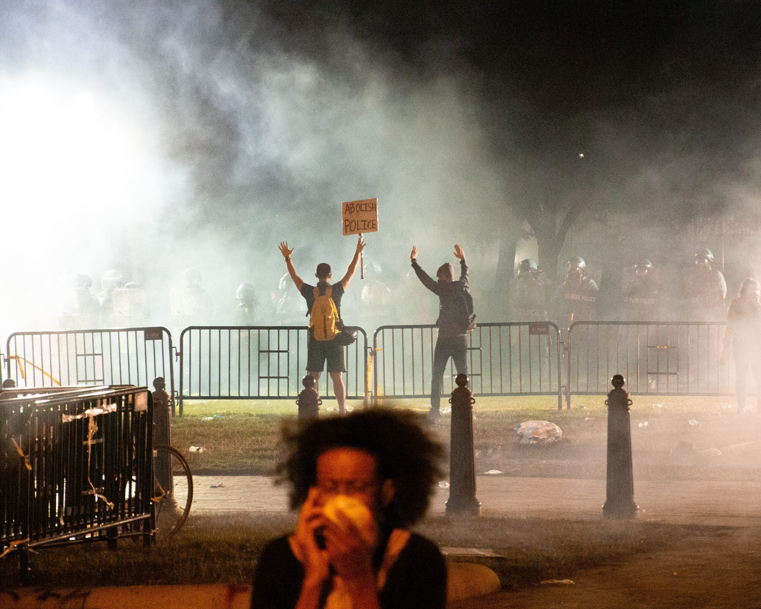 Protesters in Washington, D.C. faced off with canisters of tear gas at the end of May.
