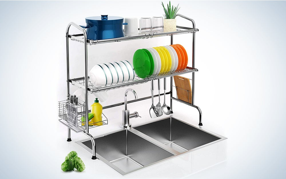 iBesi Over Sink Dish Drying Rack