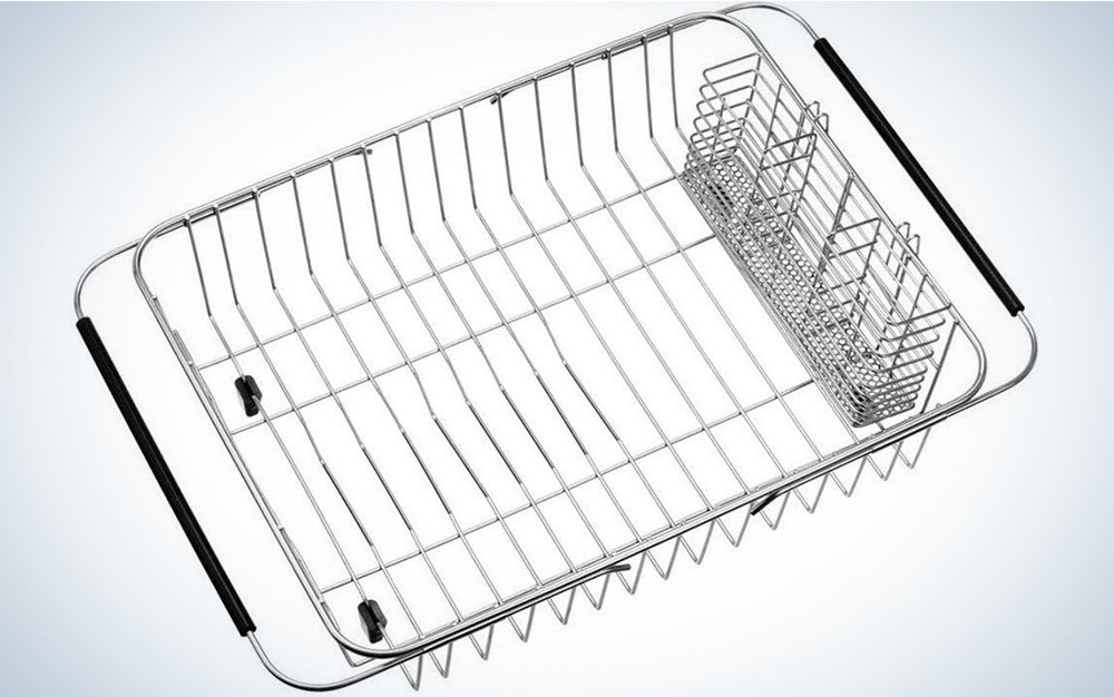 Sanno Dish Drying Rack with Stainless Steel Utensil Holder