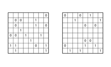 These sudoku puzzles only use 1s and 0s. Can you crack them?
