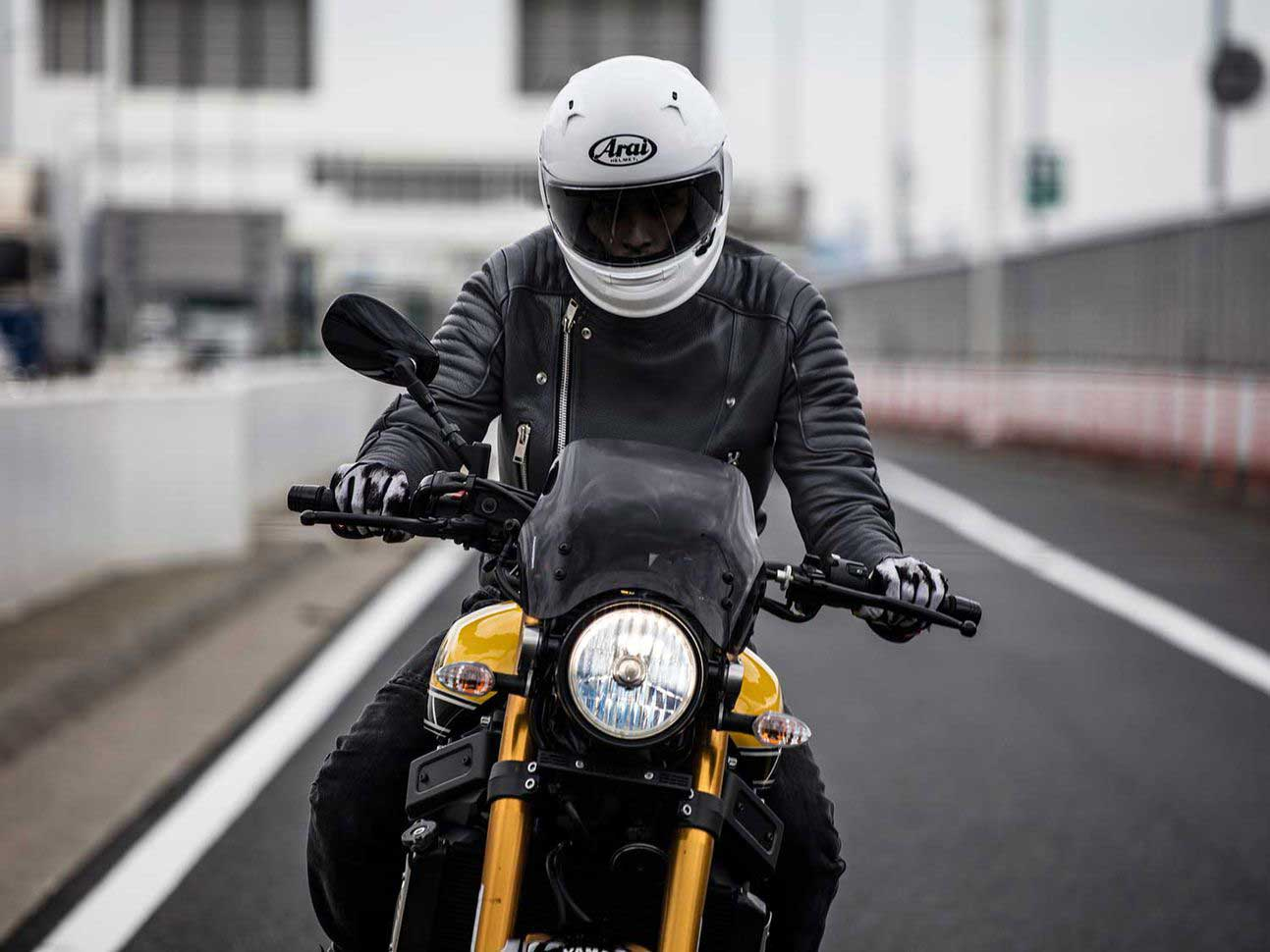 A contrasting color or something bright, like a hi-vis piece of gear, can help other riders see you better, but always ride like other motorists don't see you.