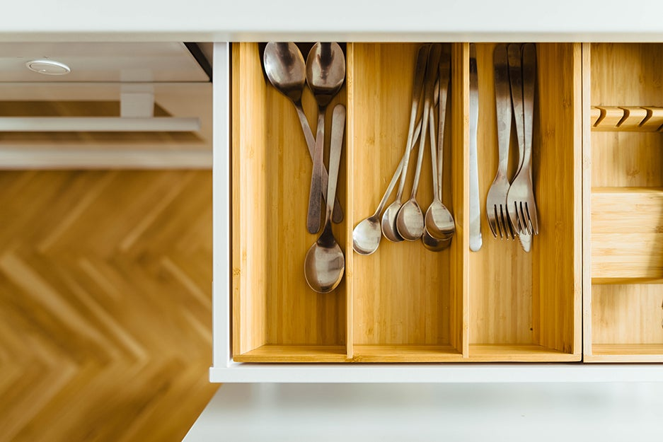 kitchen drawer and silverware