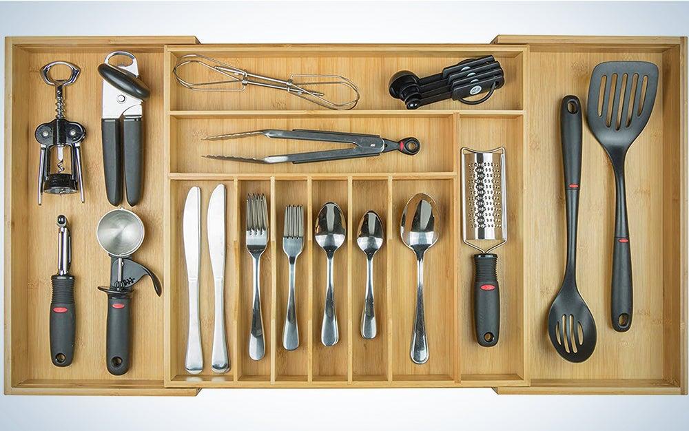 KitchenEdge Premium Silverware, Flatware and Utensil Organizer