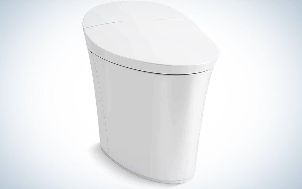 Kohler K-5401-PA-0 Veil Comfort Height Skirted One-Piece Elongated Dual-Flush Intelligent toilet