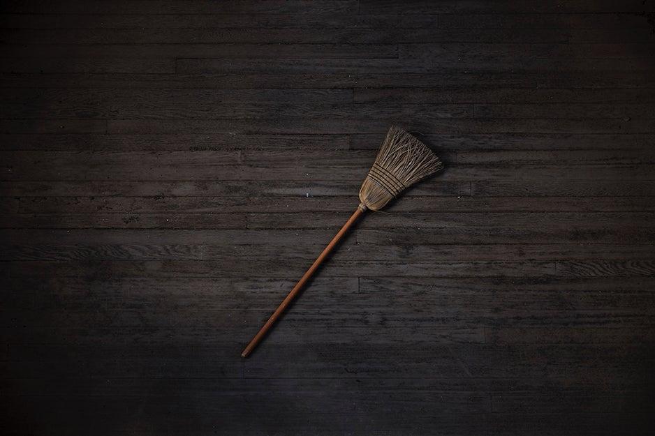 broom on the floor