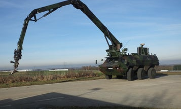 This 1.9-ton steel arm can spot bombs and lift soldiers out of harm's way