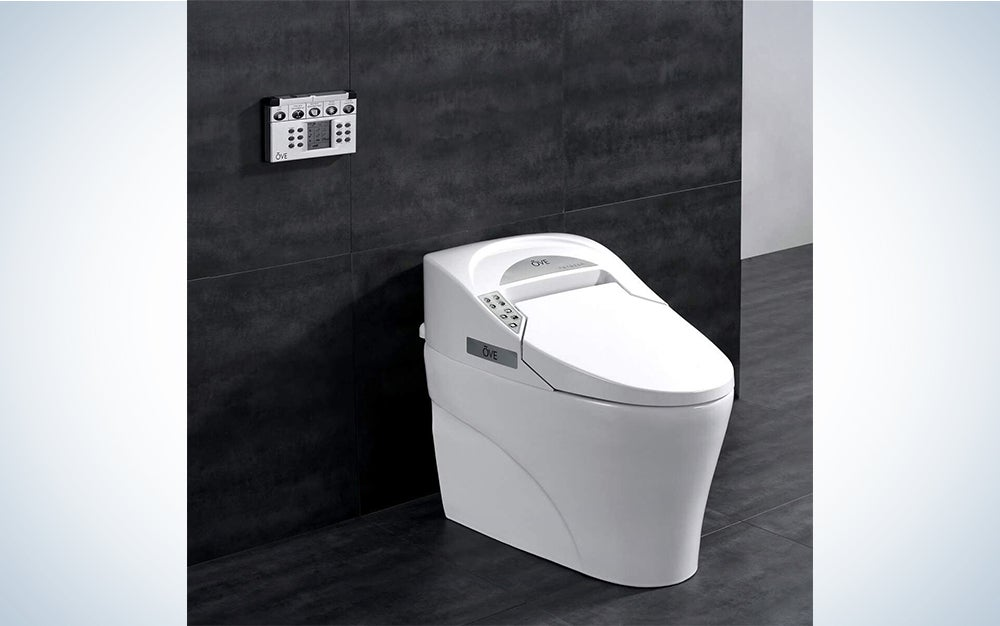 Ove Decors Tuva Bidet Toilet Built-in Tankless Elongated, Automatic Flushing, Heated Seat, Soft Close, ECO Mode with Remote Control