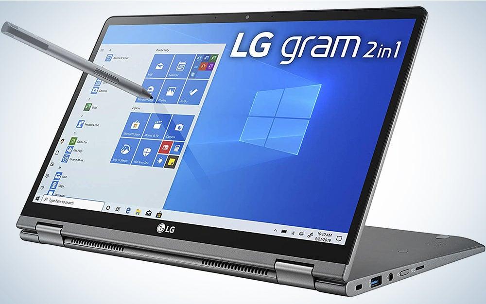 LG Gram 2in1 Convertible Laptop, 14Inch Full HD IPS Touchscreen Display, Intel 10th Gen Core i710510U CPU, 16GB RAM, 1TB 512GB x 2 M.2 MVMe SSD, Thunderbolt 3, 20.5 Hour Battery 14T90N 2020
