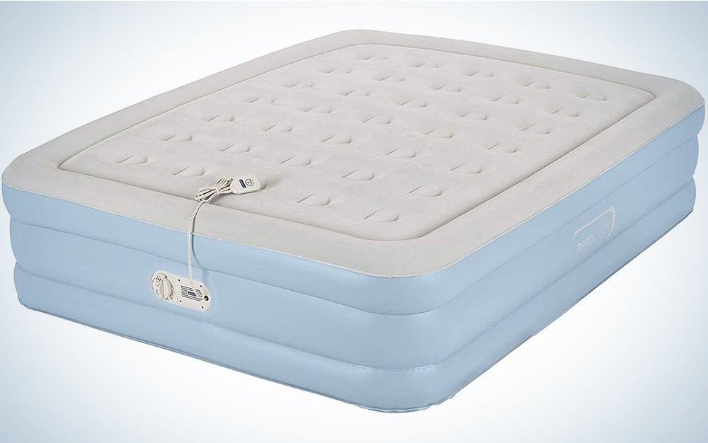 AeroBed Air Mattress with Built-in Pump & Headboard | Comfort Lock Laminated Air Bed