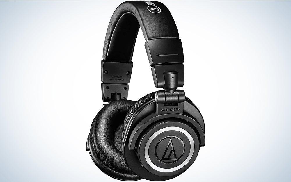 Audio-Technica ATHM50XBT Wireless Bluetooth Over-Ear Headphones, Black