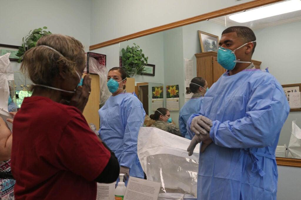 National Guard health service technicians