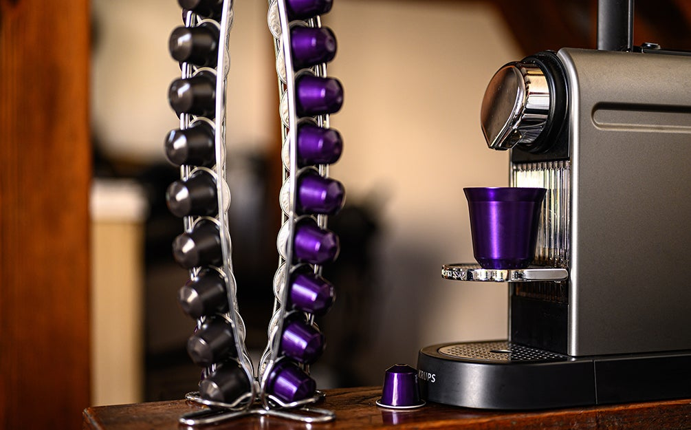 nespresso machine and pods