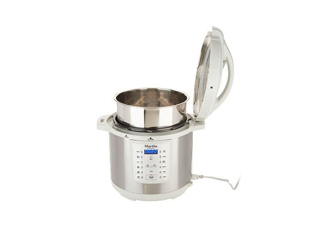 Martha Stewart 8-Qt 7-in-1 Digital Stainless Steel Pressure Cooker