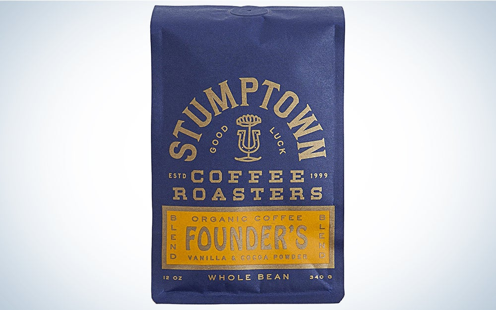 Stumptown Coffee Roasters Founders Blend Organic Whole Bean Coffee, 12 Ounce Bag, Flavor Notes of Raisin, Prailine and Cocoa