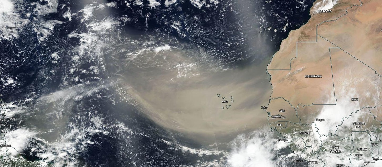 satellite image of dust cloud