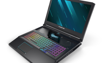 Acer's updated gaming laptop has a sliding keyboard that reveals its cooling system