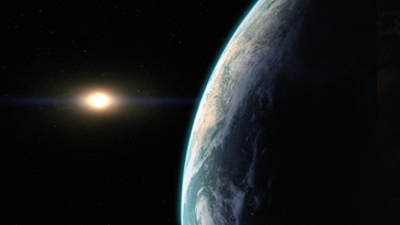 An illustration of what an Earthlike exoplanet might look like.