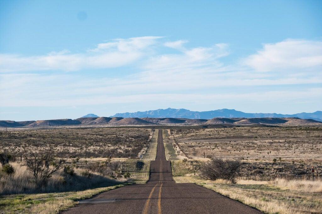 road to Rachel Mellard's ranch